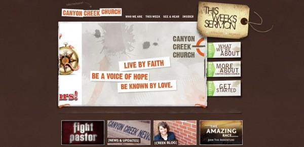 http://canyoncreekonline.com - примеры красивых сайтов церквей