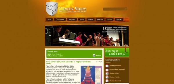 http://www.cirkevviery.sk - примеры красивых сайтов церквей
