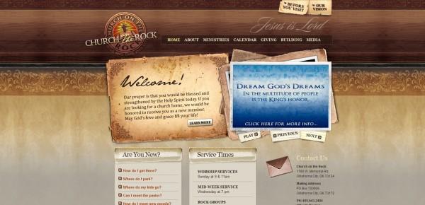 http://www.cotr.tv - примеры красивых сайтов церквей