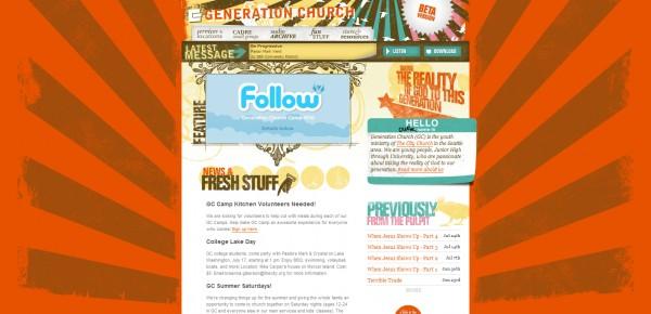http://generationchurch.org - примеры красивых сайтов церквей