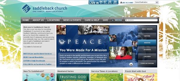 http://saddleback.com - примеры красивых сайтов церквей