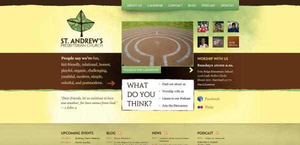 http://standrewsmtairy.org - примеры красивых сайтов церквей