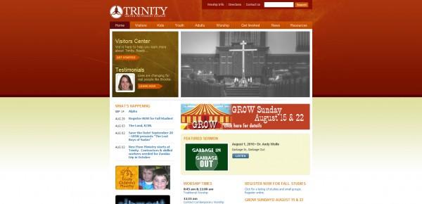 http://trinitybirmingham.com - примеры красивых сайтов церквей