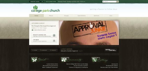 http://www.yourchurch.com - примеры красивых сайтов церквей